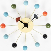 Horloge boules multicolores inspirée George Nelson Baly