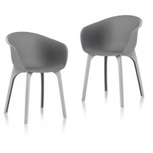IDEA lot de 2 Chaises de jardin Diva Gris
