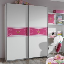 Armoire 2 portes coulissantes Princesse Naty