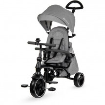 Kinderkraft Tricycle evolutif JAZZ 4 en 1 - Poussette évolutive - de 9 mois a 3 ans - Coloris Gris