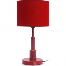 Lampe de chevet contemporaine rouge Circlo