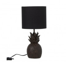 Lampe de table ananas résine marron Narsh - Lot de 2