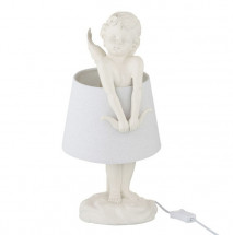 Lampe de table ange résine blanche Licia - Lot de 2