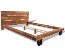 Lit bois d acacia massif avec finition à l huile Venza 180x200 cm b726873b5004