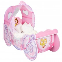 Lit Carrosse lumineux Disney Princesses 70 x 140 cm