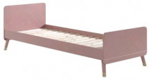 lit en bois massif rose Billy 90x200 cm