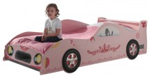 Lit voiture princesse rose Kizza 90