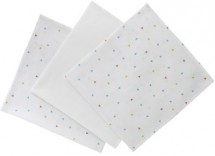 Lot de 3 langes motif triangles et uni blanc