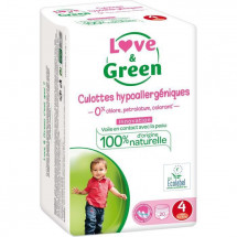 LOVE AND GREEN Culottes Taille 4 - 20 couches