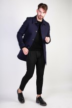 Made in Italia Manteau homme adolfo bleu
