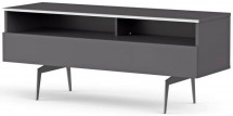 Meuble TV 2 niches 1 porte bois gris Yvanna 120 cm