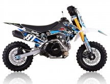 Mini Dirt 90cc Racing 4 temps 10/10 Kick starter semi automatique bleu