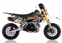 Mini Dirt 90cc Racing 4 temps 10/10 Kick starter semi automatique orange
