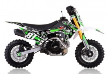 Mini Dirt 90cc Racing 4 temps 10/10 Kick starter semi automatique vert