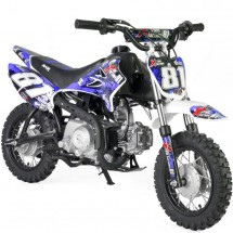 Mini Dirt 90cc Xtrem 4 temps 10/10 Kick starter automatique bleu