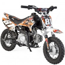 Mini Dirt 90cc Xtrem 4 temps 10/10 Kick starter semi automatique orange