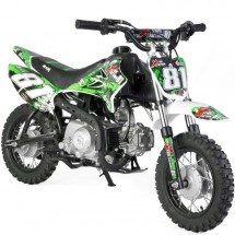 Mini Dirt 90cc Xtrem 4 temps 10/10 Kick starter semi automatique vert
