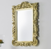 Miroir mural for Miroir dore rectangulaire