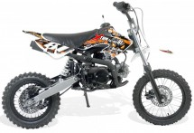 Moto cross 110cc Sport 14/12 boite mécanique Kick starter orange