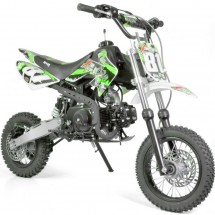 Moto cross 110cc Sport 14/12 semi automatique 4 temps kick verte