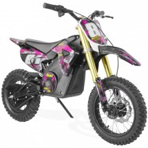 Moto cross électrique 1100W lithium SX rose