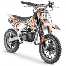 Moto cross pocket 50cc 2 Temps 10/10 blanc et orange