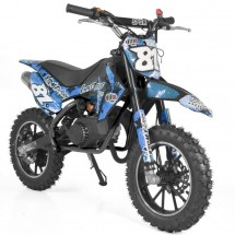 Moto cross pocket 50cc 2 Temps 10/10 bleu