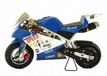 Moto Pocket piste Racing 50cc Bleu