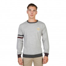 Oxford University Pull homme oxford tricot crewneck gris