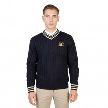 Oxford University Pull homme oxford tricot cricket bleu