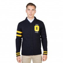 Oxford University Pull homme oxford tricot teddy bleu