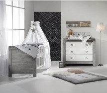 Pack duo chambre grise et blanche Nordic Driftwood