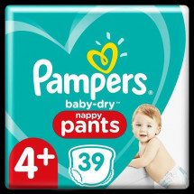 Pampers Baby-Dry Pants Couches-Culottes Taille 4+, 39 Culottes