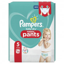 Pampers Baby-Dry Pants Couches-Culottes Taille 5, 22 Culottes