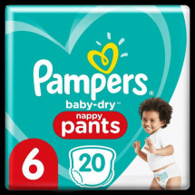 Pampers Baby-Dry Pants Couches-Culottes Taille 6, 20 Culottes