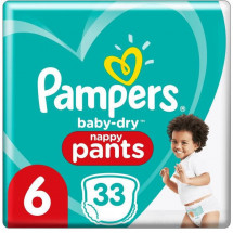 Pampers Baby-Dry Pants Couches-Culottes Taille 6, 33 Culottes