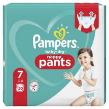 Pampers Baby-Dry Pants Couches-Culottes Taille 7, 30 Culottes