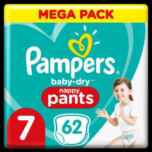 Pampers Baby-Dry Pants Couches-Culottes Taille 7, 62 Culottes