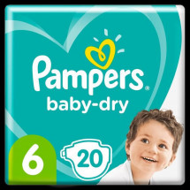 Pampers Baby-Dry Taille 6, 20 Couches