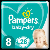Pampers Baby-Dry Taille 8, 28 Couches