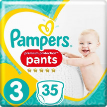 Pampers Premium Protection Pants T3, 35 Couches-Culottes