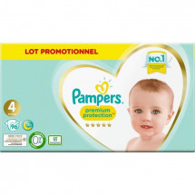 Pampers Premium Protection Taille 4, 96 Couches