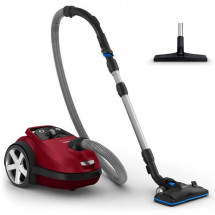 PHILIPS FC8781/09 Aspirateur avec sac Performer Silent - Silencieux 66dB - Brosse Triactive Pro - Rouge