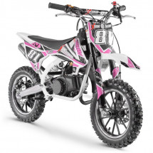 Moto cross pocket 50cc 2 Temps 10/10 blanc et rose