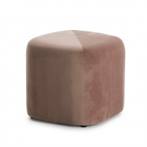 Pouf carré velours rose Brunel