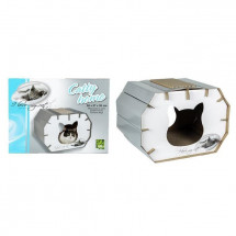 RIGA Catty Home I LOVE MY CAT Couchage chat - 50 x 37 x 35 cm