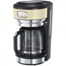 RUSSELL HOBBS 21702-56 - Cafetiere filtre Retro - 10 tasses - 1000 W - Creme