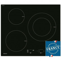 SAUTER SPI4300B Table de cuisson Induction - 3 zones - 7200W - L60 x P52cm - Revetement verre - Noir