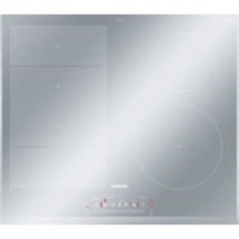 SIEMENS EX659FEB1F - Table de cuisson a induction - 4 zones - 7400W - L59,2 x P52,2cm - Revetement verre - Inox