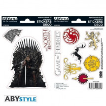 Stickers Game Of Thrones - 6x11cm / 2 planches - Stark / Sigils - ABYstyle